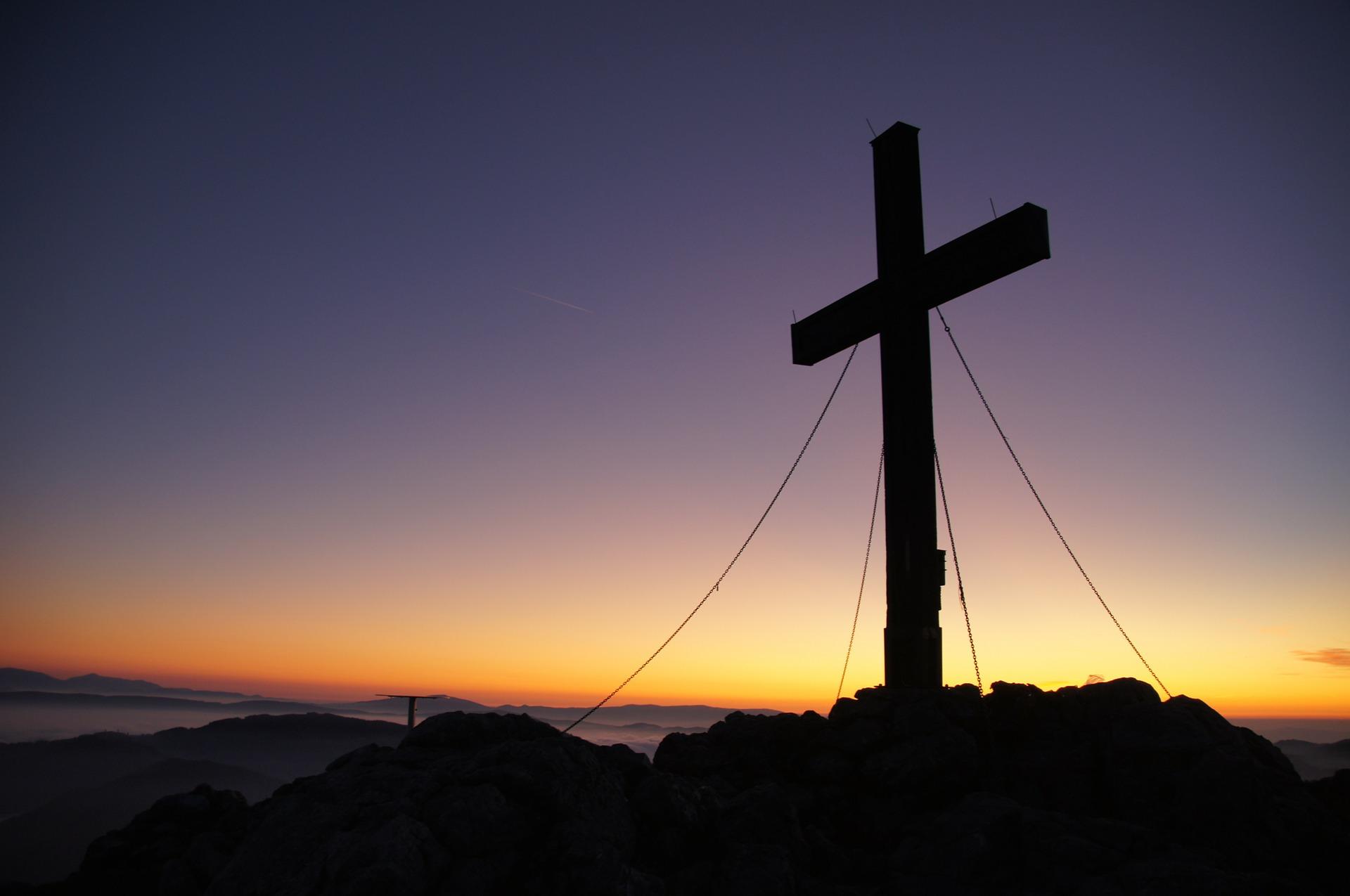 cross summit sunset